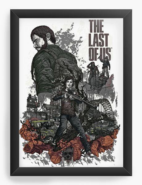 Quadro Decorativo A4 (33X24) The Last Of Us - Nerd e Geek - Presentes Criativos