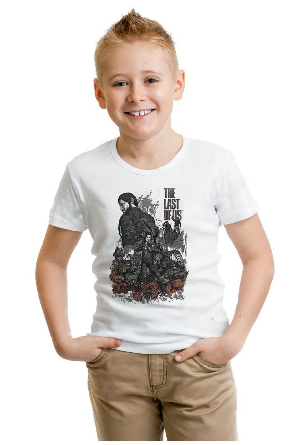 Camiseta Infantil The Last Of Us - Nerd e Geek - Presentes Criativos