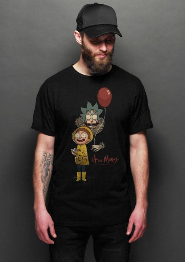 Camiseta Masculina  Rick and Morty It - Nerd e Geek - Presentes Criativos