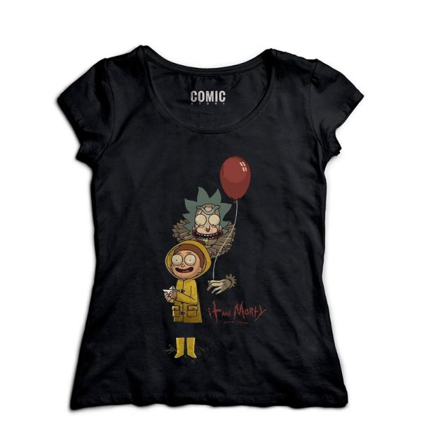 Camiseta Feminina Rick and Morty It - Nerd e Geek - Presentes Criativos