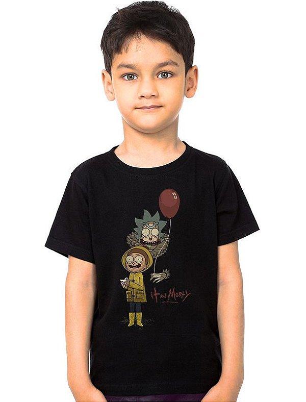 Camiseta Infantil Rick and Morty It - Nerd e Geek - Presentes Criativos