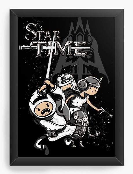 Quadro Decorativo A4 (33X24) Star Time - Nerd e Geek - Presentes Criativos