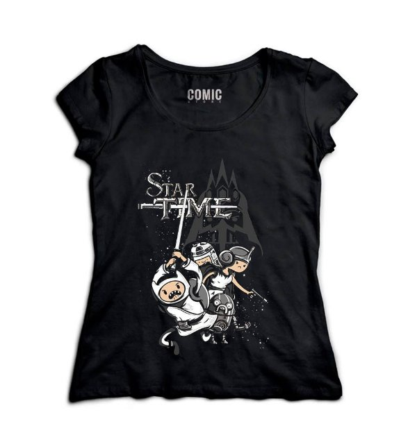 Camiseta Feminina Star Time - Nerd e Geek - Presentes Criativos