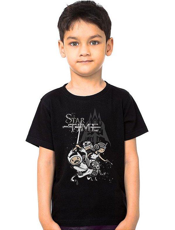Camiseta Infantil Star Time - Nerd e Geek - Presentes Criativos