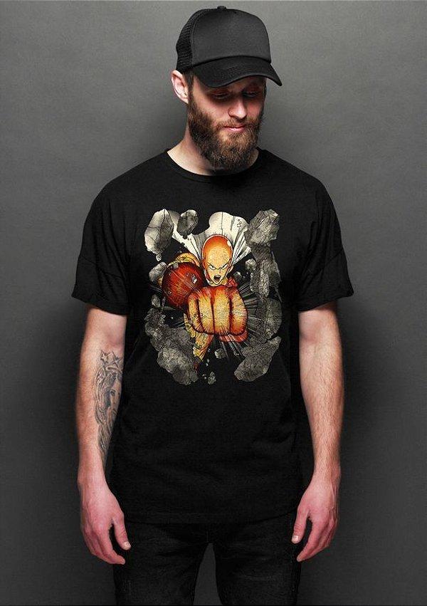 Camiseta Masculina  One Punch-Man - Nerd e Geek - Presentes Criativos