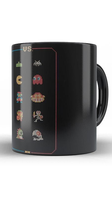 Caneca Retro Game - Nerd e Geek - Presentes Criativos