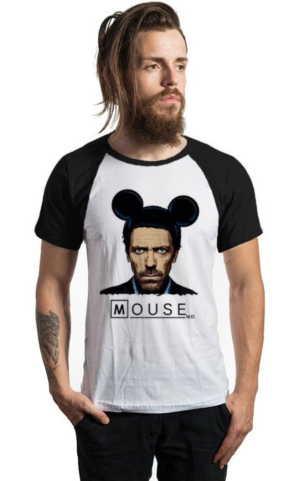 Camiseta Dr House: Mouse - Nerd e Geek - Presentes Criativos
