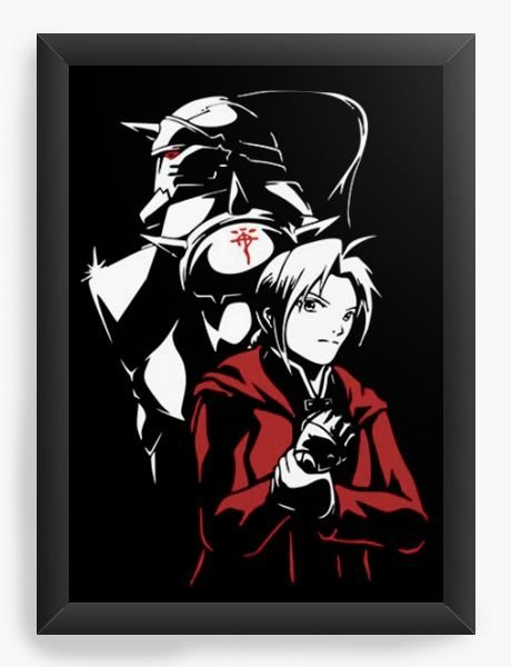 Quadro  Decorativo Anime Fullmetal Alchemist - Nerd e Geek - Presentes Criativos