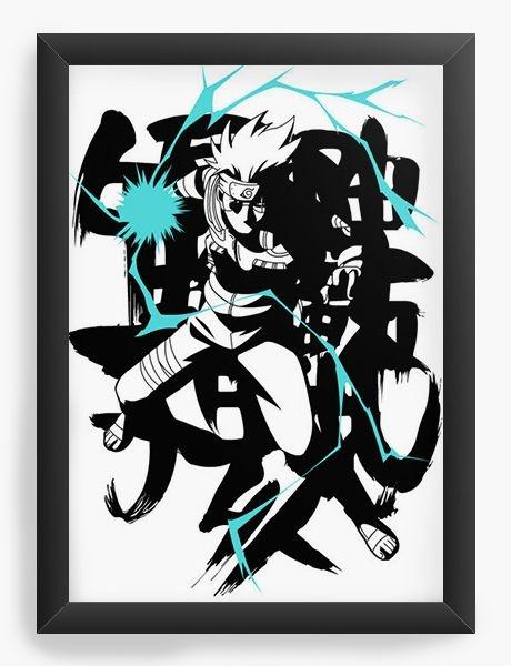 Quadro  Decorativo Anime Naruto: Hatake Kakashi - Nerd e Geek - Presentes Criativos