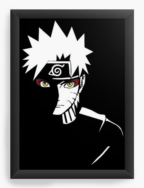 Quadro  Decorativo Anime Naruto Serie - Nerd e Geek - Presentes Criativos