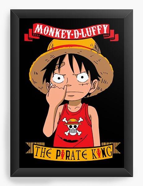 821529b6fb62 Quadro Decorativo Anime One Piece Monkey D. Luffy | Produtos Anime ...