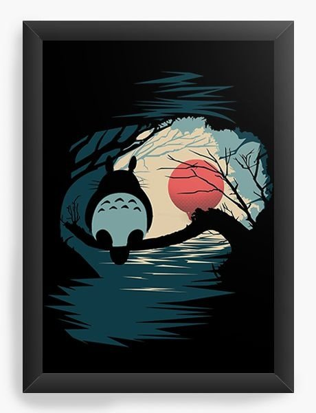 Quadro Decorativo A4 (33X24) Anime Totoro - Nerd e Geek - Presentes Criativos