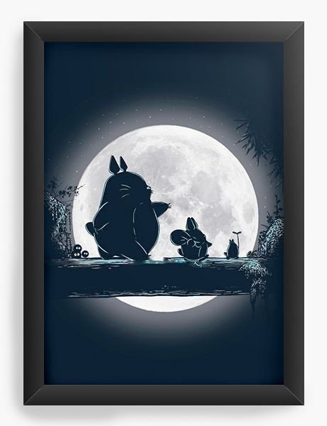Quadro  Decorativo Anime Totoro Hakuna Matata - Nerd e Geek - Presentes Criativos