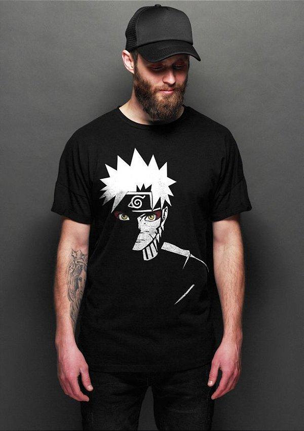 Camiseta Masculina  Anime Naruto - Nerd e Geek - Presentes Criativos