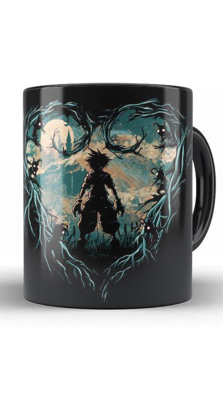 Caneca Kingdom Hearts - Hunter of Darkness - Nerd e Geek - Presentes Criativos
