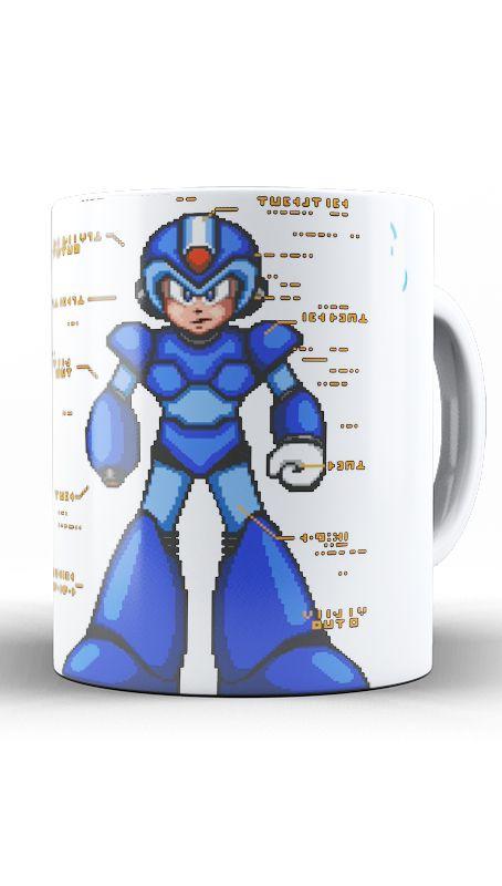 Caneca Mega Man - Nerd e Geek - Presentes Criativos