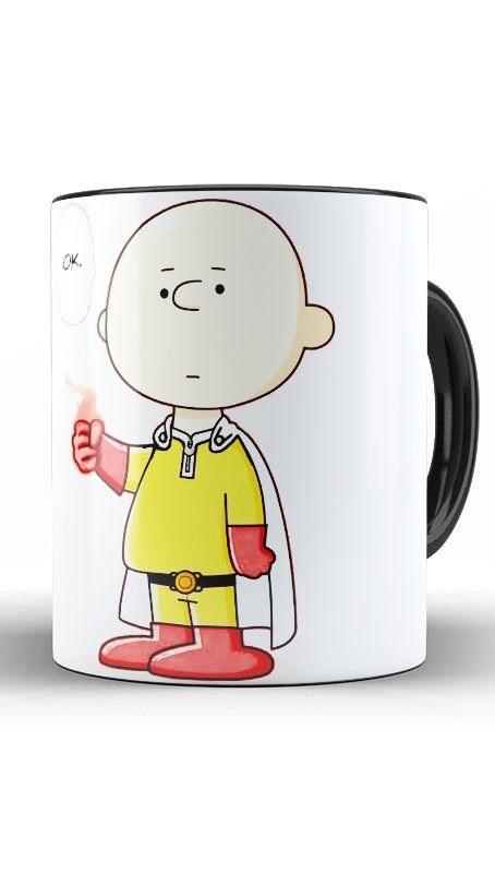 Caneca Charlie Brown Become One Punch - Nerd e Geek - Presentes Criativos