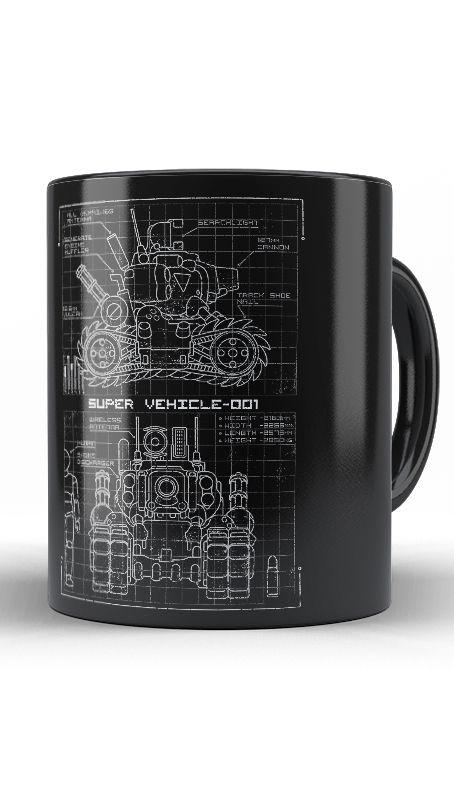 Caneca Metal Slug Blueprint  SV 001 - Nerd e Geek - Presentes Criativos