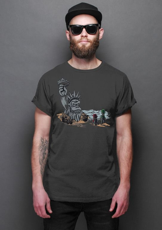 Camiseta Masculina   The Planet of the Kong - Nerd e Geek - Presentes Criativos