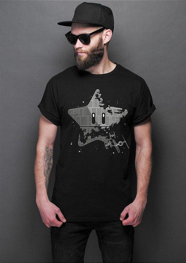 Camiseta Masculina  Super Estrela da Morte - Nerd e Geek - Presentes Criativos