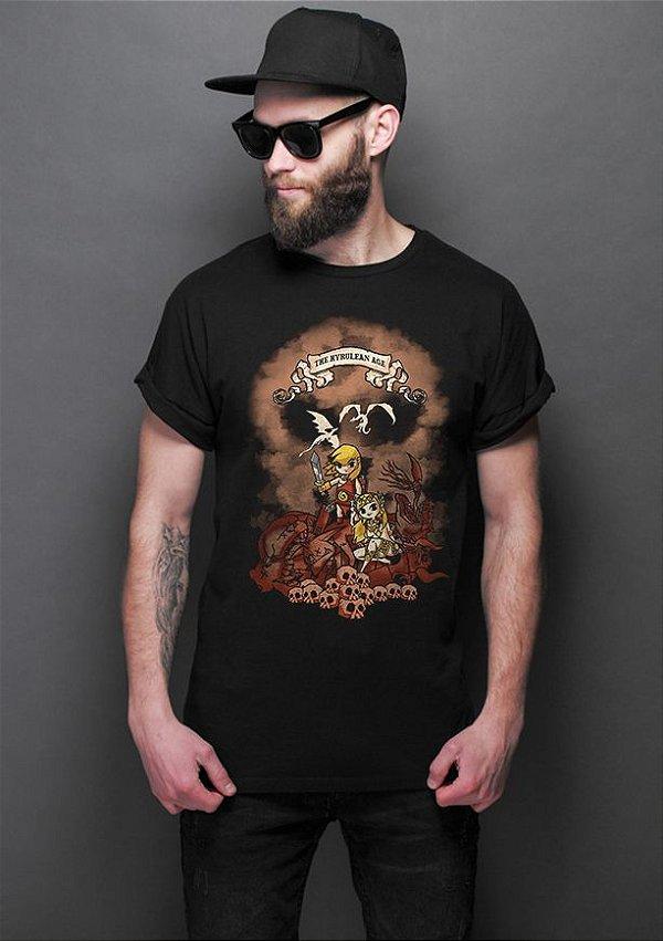 Camiseta Masculina  The Hyrulean Age - Nerd e Geek - Presentes Criativos