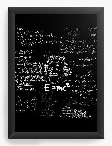 Quadro Decorativo A4 (33X24) Albert Einstein - Nerd e Geek - Presentes Criativos