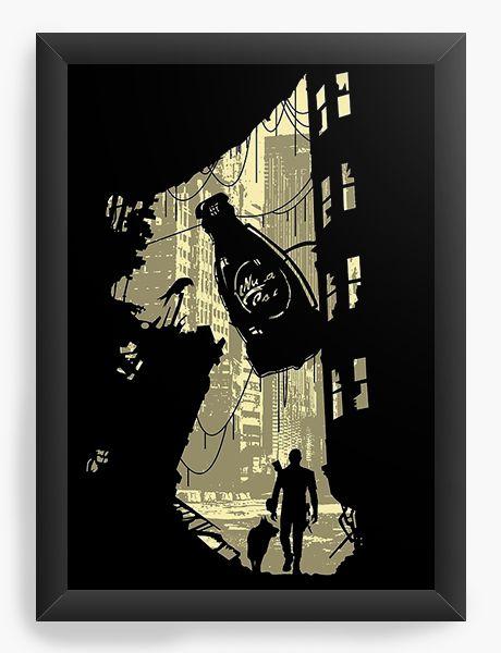 Quadro Decorativo A4 (33X24) Life After - Nerd e Geek - Presentes Criativos