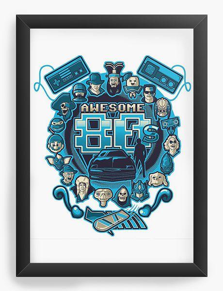 Quadro Decorativo Awesome 80 - Nerd e Geek - Presentes Criativos