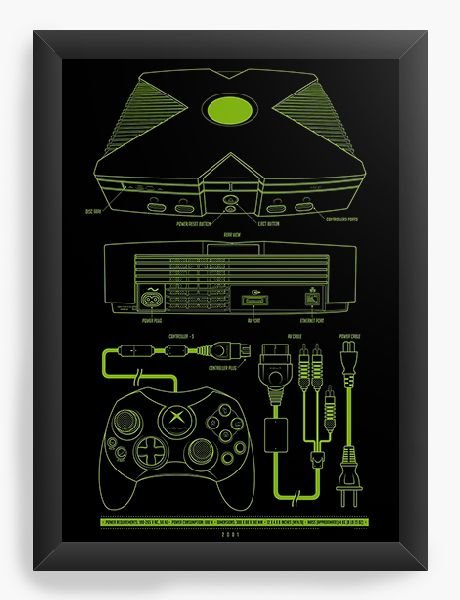 Quadro Decorativo Box - Nerd e Geek - Presentes Criativos