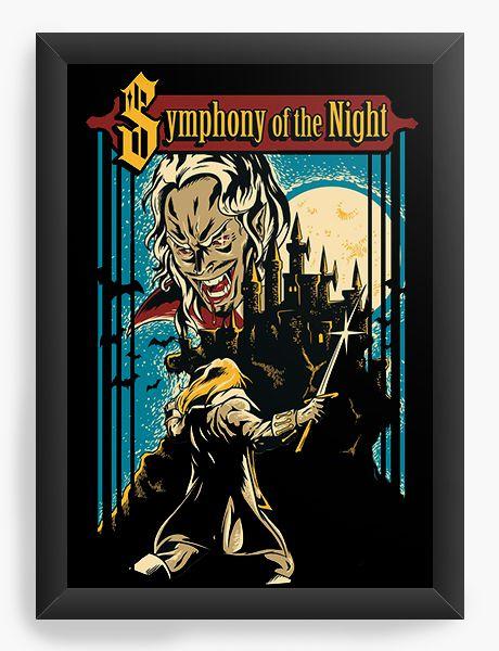 Quadro Decorativo Symphony of the Night - Nerd e Geek - Presentes Criativos