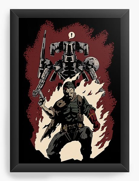 Quadro Decorativo A4 (33X24) Hellboss - Nerd e Geek - Presentes Criativos