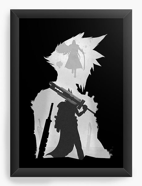 Quadro Decorativo A4 (33X24) Final Fantasy VII - Final Battle - Nerd e Geek - Presentes Criativos