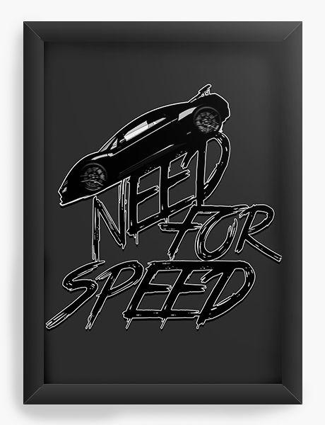 Quadro Decorativo Need For Speed - Nerd e Geek - Presentes Criativos