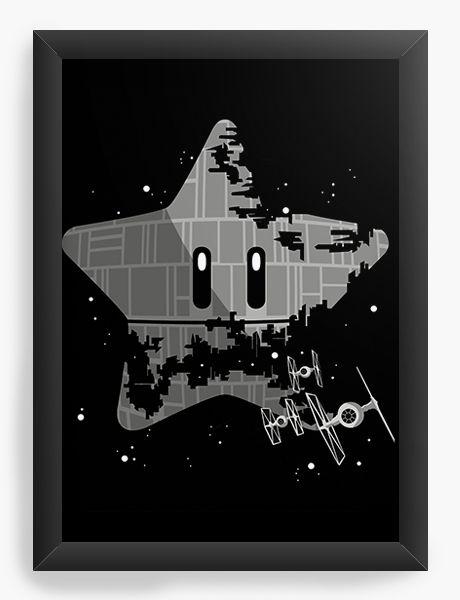 Quadro Decorativo Super Estrela da Morte - Nerd e Geek - Presentes Criativos