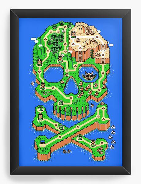 Quadro Decorativo A4 (33X24) Map - Nerd e Geek - Presentes Criativos