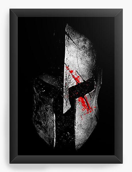 Quadro Decorativo A4 (33X24) Spartan - Nerd e Geek - Presentes Criativos