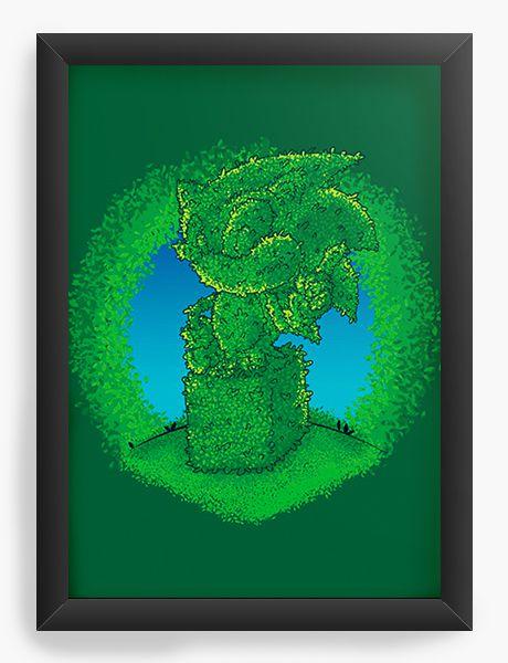 Quadro Decorativo A4 (33X24) Gardening - Nerd e Geek - Presentes Criativos
