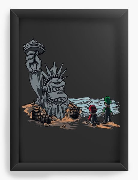 Quadro Decorativo A4 (33X24) The Planet of the Kong - Nerd e Geek - Presentes Criativos