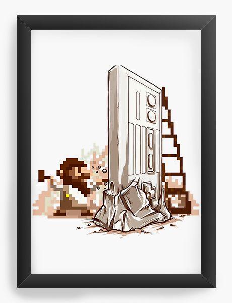 Quadro Decorativo A4 (33X24) Reenaissance   - Nerd e Geek - Presentes Criativos
