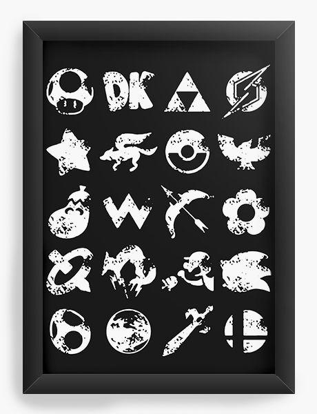 Quadro Decorativo A4 (33X24) Grunge - Nerd e Geek - Presentes Criativos
