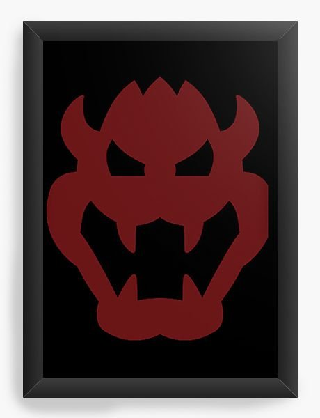Quadro Decorativo A4 (33X24) Demon - Nerd e Geek - Presentes Criativos