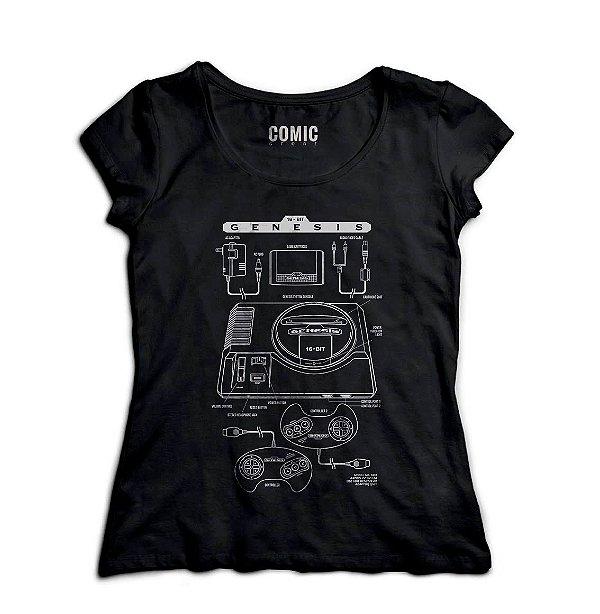 Camiseta  Feminina Mega drive - Nerd e Geek - Presentes Criativos