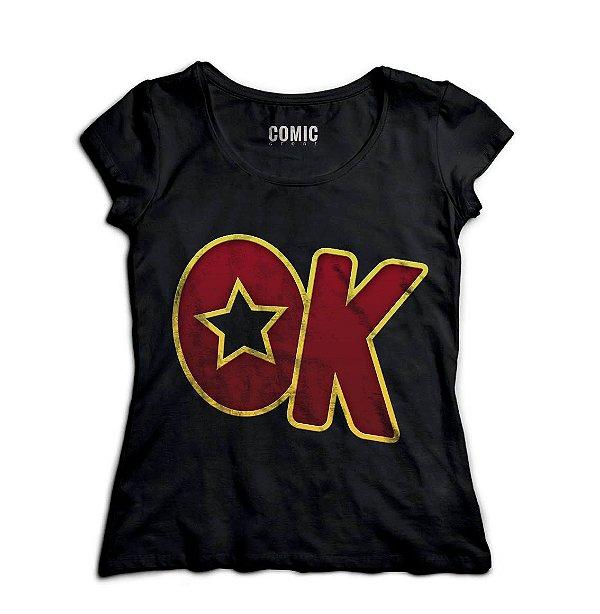 Camiseta Feminina OK - Nerd e Geek - Presentes Criativos