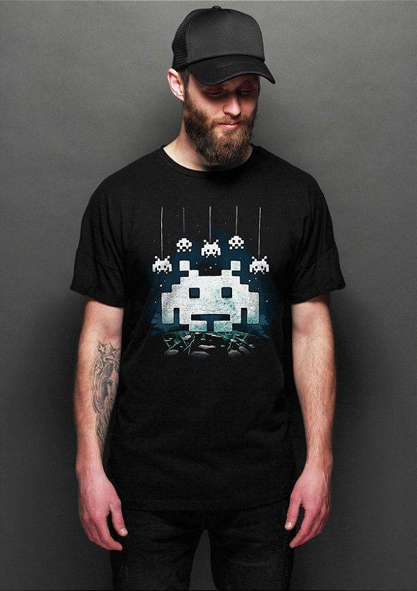 Camiseta Masculina Space Atari - Nerd e Geek - Presentes Criativos
