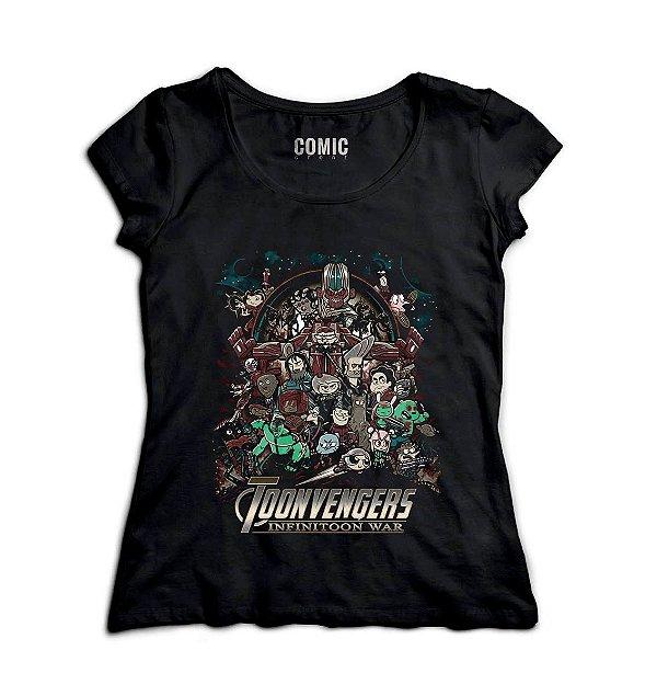 Camiseta Feminina Infitoon War - Nerd e Geek - Presentes Criativos