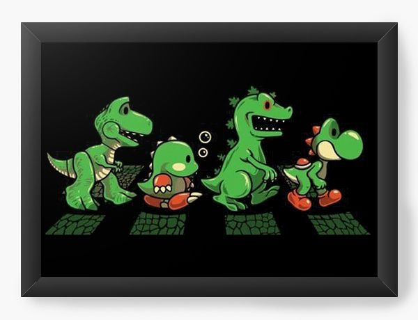 Quadro Decorativo A4 (33X24) Road - Nerd e Geek - Presentes Criativos