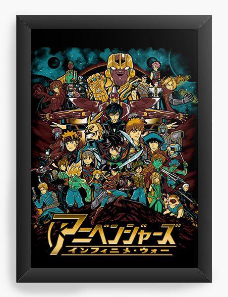 Quadro Decorativo A4 (33X24) Anime - Nerd e Geek - Presentes Criativos