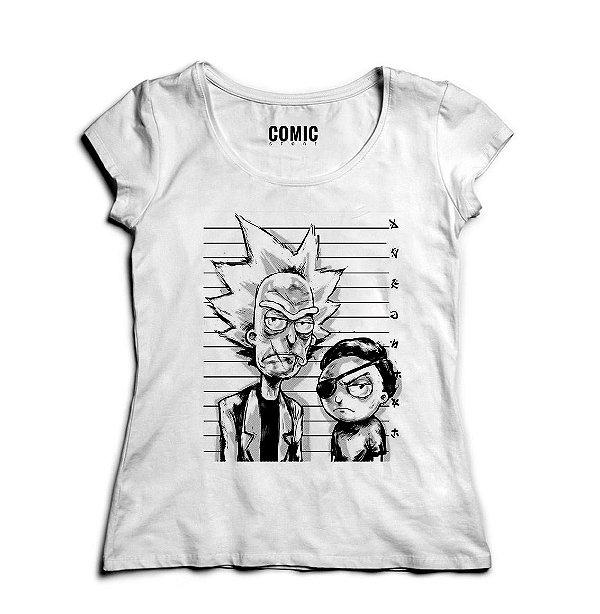 Camiseta Feminina Rick and Morty Nerd e Geek - Presentes Criativos