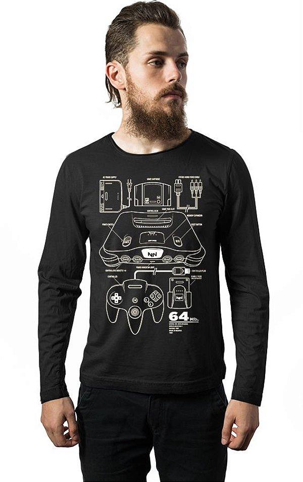Camiseta Masculina Manga Longa NN Nerd e Geek - Presentes Criativos