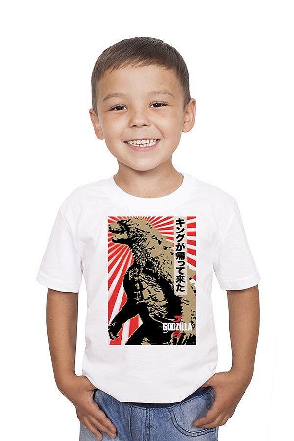 Camiseta Infantil Adventure Godzila Nerd e Geek - Presentes Criativos
